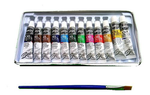pinturas al oleo barroco estuche con 12 colores arte fino