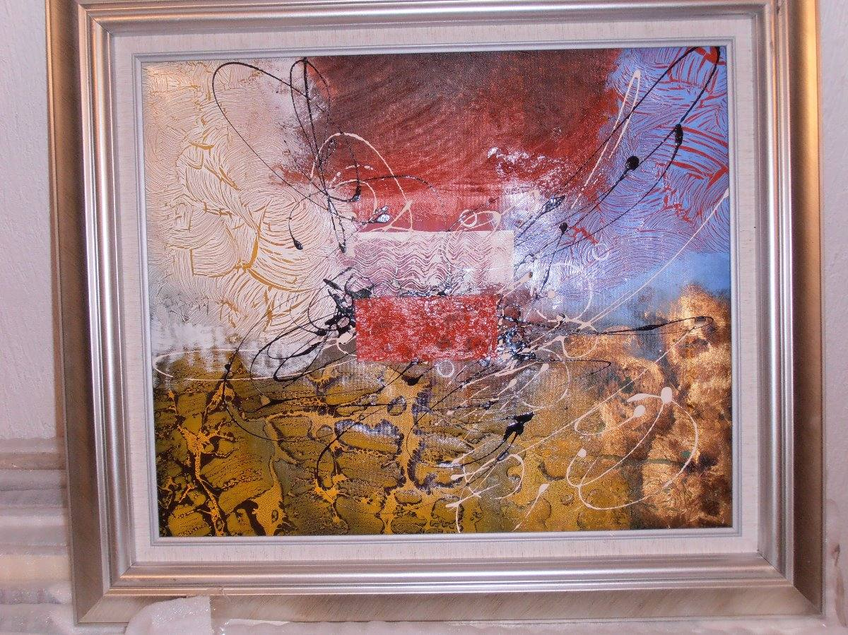 Pinturas Al Oleo Enmarcadas Medidas 78 X 67 Cms - $ 1,499.00 en ...