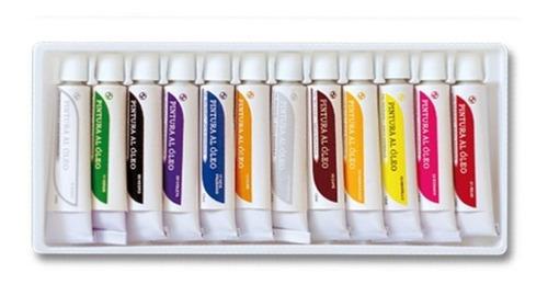 pinturas al oleo sabonis estuche con 12 colores envio gratis