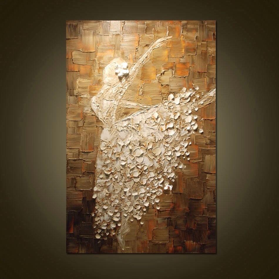 Pinturas al leo y al leo con esp tula hechas a mano - Decoracion de pintura ...