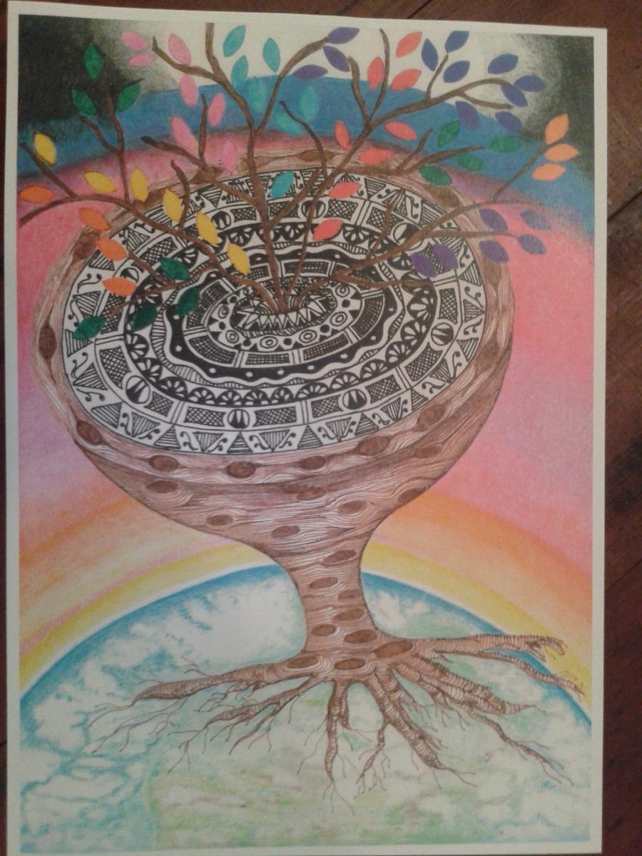 Pinturas Arte Cuadros Acrilico Acuarela Mandalas 230 - Pinturas-de-mandalas