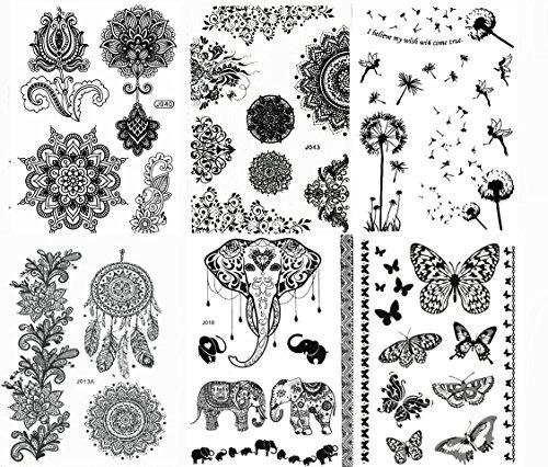 Pinturas De Cuerpo De Henna Negro Diseos De Tatuajes Tempo