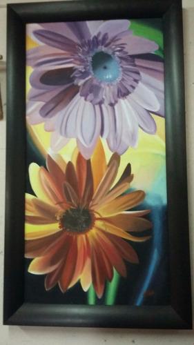 pinturas de oleo hecha a mano 99cm de alto x 55cm de ancho