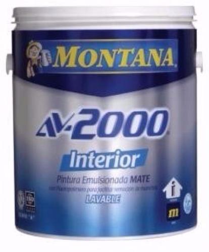 pinturas montana av2000 interior blanco clase a/