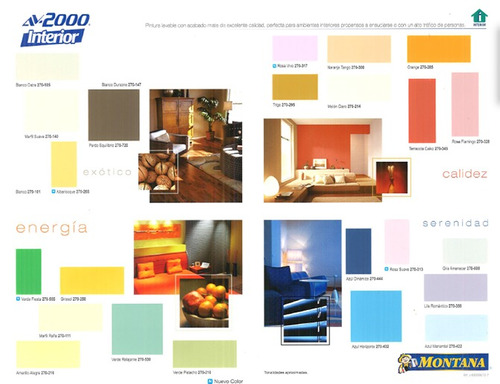 pinturas montana av2000 interior blanco/b.suspiro/colores