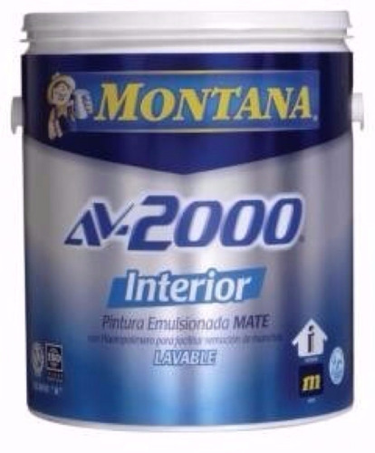 pinturas montana av2000 interior  clase a lavable