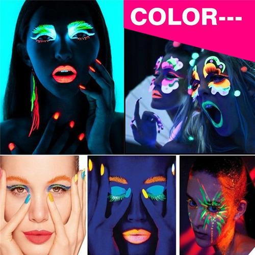 pinturas neón (corporal) kit 6 colores