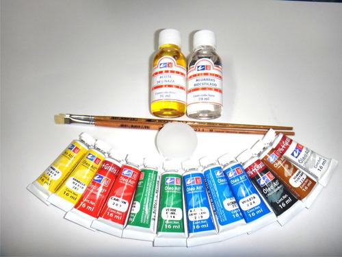 pinturas oleo,   atl kit **estuche equipado basico**