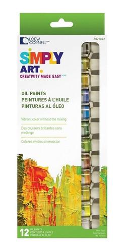 pinturas oleo loew cornell paquete de 12 tubos
