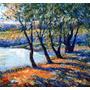 Arte Impresionismo En Estanque - Óleo J Ducuron Envío Gratis