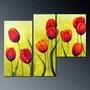 Cuadros Flores Tulipanes Modernos,polipticos Decorativos