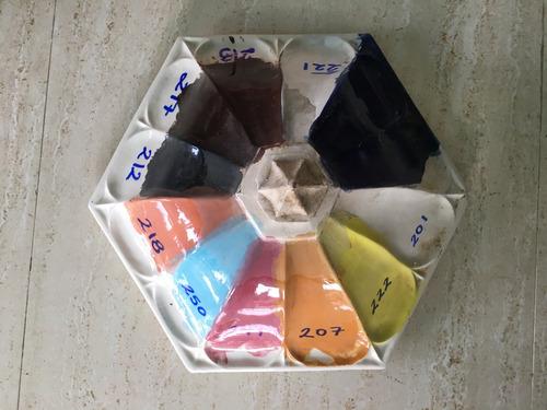 pinturas para cerámica al horno, esmaltes, bajo cubierta etc