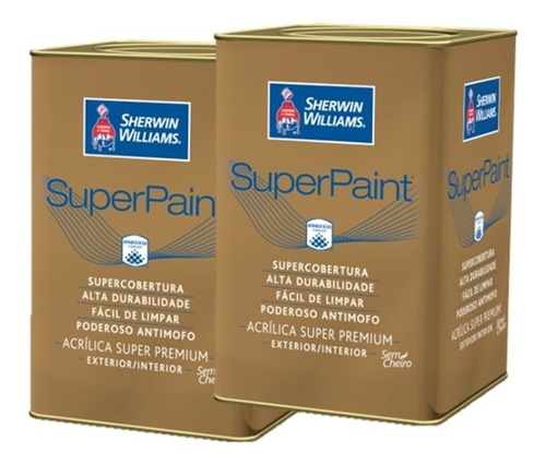 pinturas sherwin williams super paint mate 18 + 18 lts