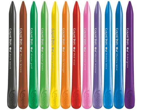 pinturitas plasticas x12 colorpeps maped 862011 educando