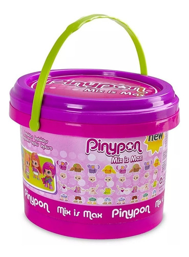 pinypon 13810 balde c/figuras p/intercam