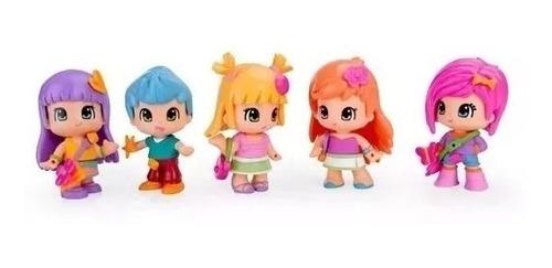 pinypon + 5 figuras juguetes muñecas niña + accesorios nena