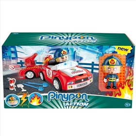 Pinypon Action Fig + Auto + Carro Bombero