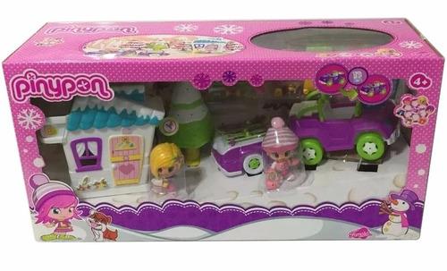 pinypon auto con casita en la nieve jugueteria bunny toys