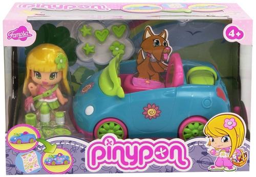 pinypon auto + muñeca c/ accesorios giro didáctico
