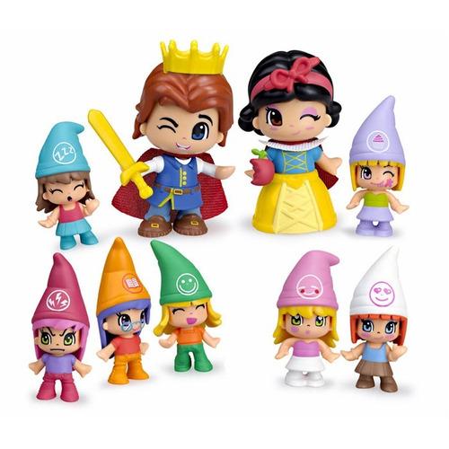 pinypon blanca nieves y los 7 enanitos princesa original