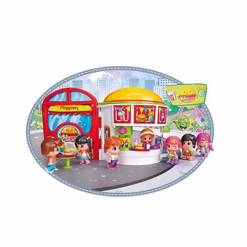 pinypon hamburgueseria c/figura y accs jugueteria bunny toys