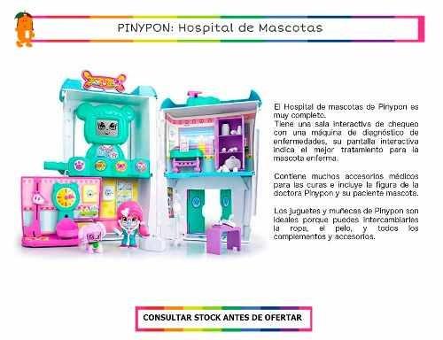 pinypon hospital mascotas veterinaria c/ figura + accesorios