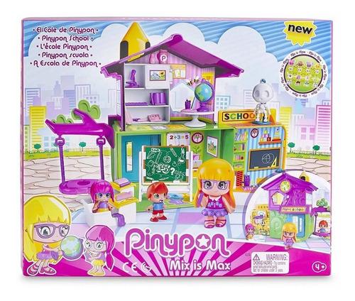pinypon muñecas escuela+ 3 figuras+ accesorio nenas juguetes