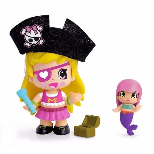pinypon piratas y sirenas 2 figura + accesorios
