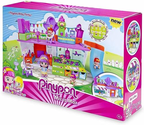 pinypon playset baby party fiesta de bebe 3 figuras 14351