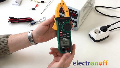 pinza amperimetrica 600a ideal para electricidad automotriz