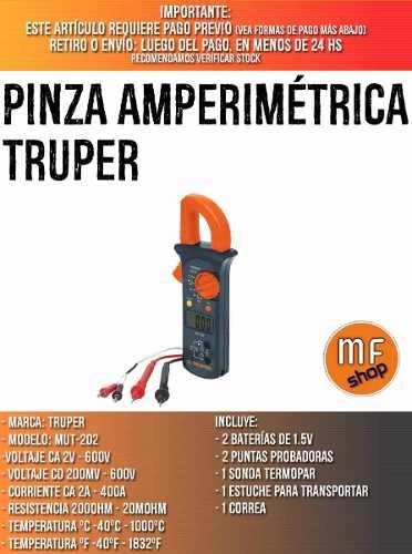 pinza amperimetrica electr