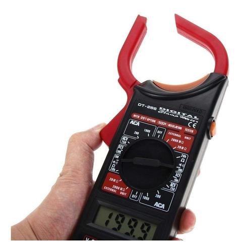 pinza amperometrica digital gralf modelo dt266