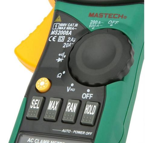 pinza amperometrica digital mastech ms2108a true rms vfc