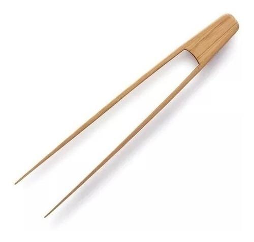 pinza bamboo nonfork utensilio 30 cm cocina sacar tostadas
