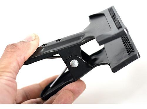 pinza broche clamp abrazadera soporte p/ fondo tela papel