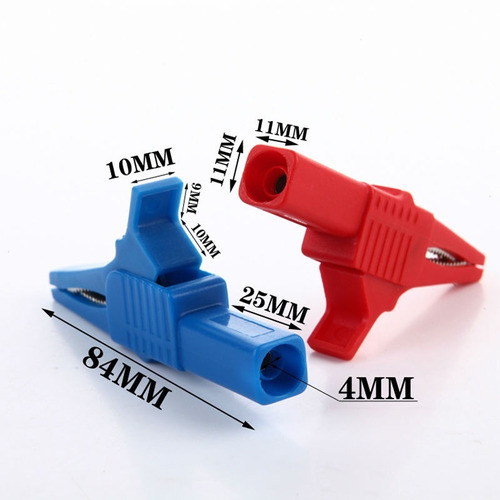 pinza caimán extra 84 mm excelente calidad terminal 4mm
