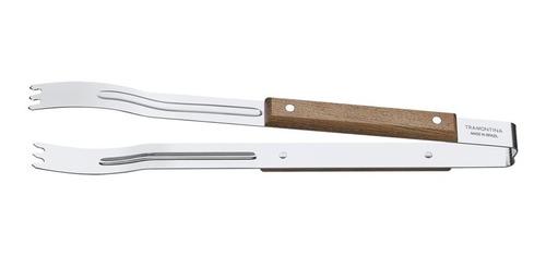 pinza de asado carne tramontina madera 38 cm churrasco