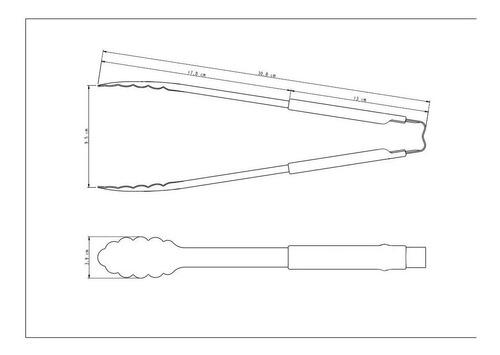 pinza multiuso para cocina tramontina utilita 31 cm