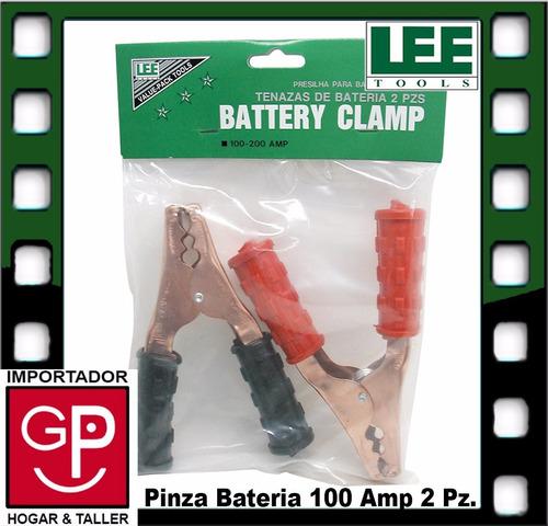 pinza para bateria 100 amp 2 piezas lee tools