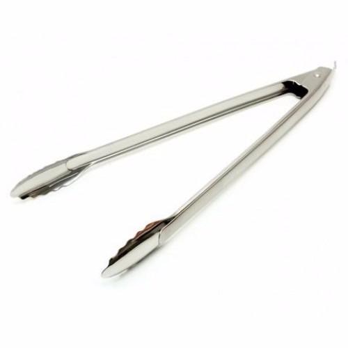 pinza parrillera acero inoxidable 40 cm reforzada oferta !!