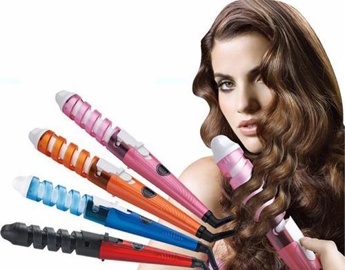 pinza rizadora ceramica cabello risos sedosos colores
