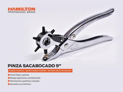 pinza sacabocados hamilton perforacion 6 punzones aps90