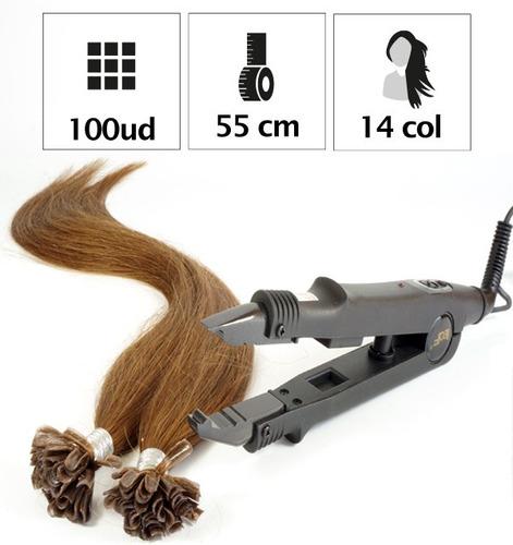 pinza soldador armado y pegado de extensiones