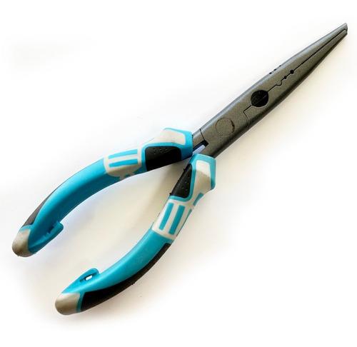 pinza tech abre anillas con alicate funda y cable retractil