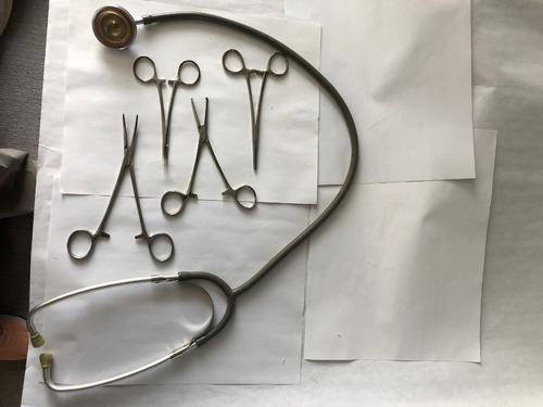 pinzas médicas vintage