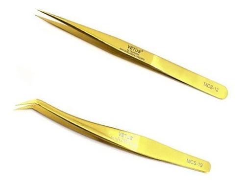 pinzas para pestañas  recta o curva vetus