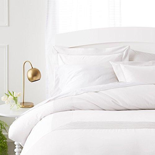 pinzon 400 hilos de algodón egipcio plisada hem duvet set -