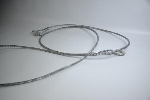 piola, cable,de acero 4 metros para arrastre / runn