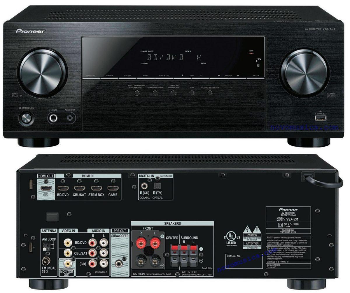 Pioneer amplificador 5 1 con bluetooth y wifi pio vsx 1131 for Amplificadores de wifi potentes