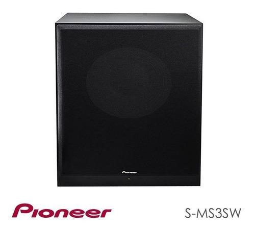 pioneer bass reflex powered subwoofer 200w (s-ms3sw)